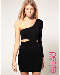 ASOS Collection Asos Petite Exclusive One Sleeve Cut Out Bodycon Dress - Lyst