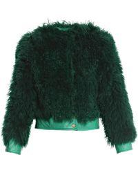 Diane von Furstenberg Funnelia Crop Coat - Lyst