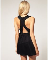 ASOS Collection Asos Petite Exclusive Skirted Dress with Cut Out Pleat Detail - Lyst