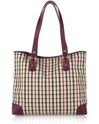 Daks - Checked Twill Shoulder Bag - Lyst