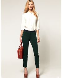 ASOS Collection Asos Slim Trouser in Block Colour - Lyst