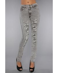 Cheap Monday The Tight Jean in Logo Mania - Lyst