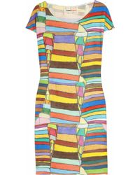 Clements Ribeiro - Candy Printed Silk-satin Dress - Lyst