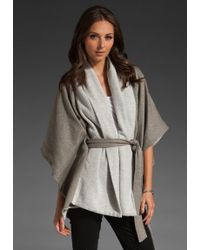 James Perse Oversized Blanket Cardigan - Lyst