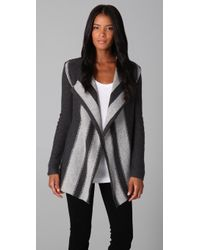 James Perse Striped Cardigan - Lyst