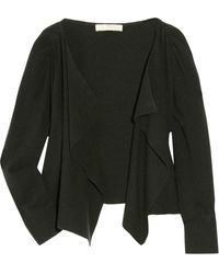 Vanessa Bruno Draped Wool and Cashmere-blend Cardigan - Lyst