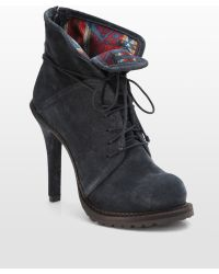 Elizabeth And James Base Suede & Cotton Ankle Boots - Lyst