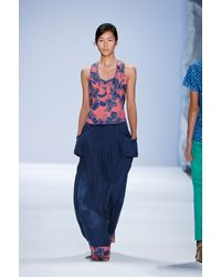 Richard Chai Spring 2012 Blue Maxi Skirt - Lyst