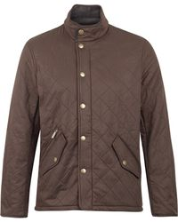 Barbour Brown Chelsea Sportsquilt Jacket - Lyst