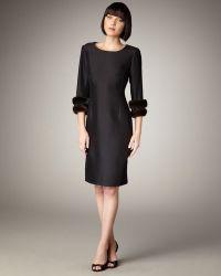 Bigio Collection - Mink-cuff Dress - Lyst
