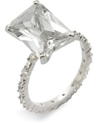 Ariella Collection Emerald Cut Cubic Zirconia Ring - Lyst