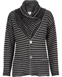 Armani Striped Shawl Collar Jacket - Lyst