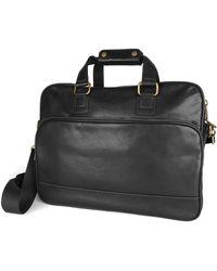 Bosca Top Zip Leather Briefcase - Lyst