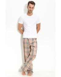 Burberry Check Pajama Set, Camel - Lyst
