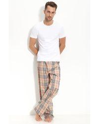 Burberry Check Pajama Set, Camel beige - Lyst