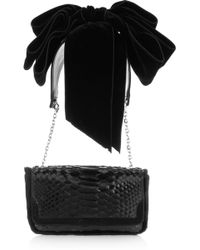 Christian Louboutin Artemis Glossed-python Shoulder Bag - Lyst