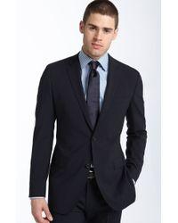 Hugo Boss Boss Black Jam/sharp Trim Fit Navy Stretch Wool Suit - Lyst