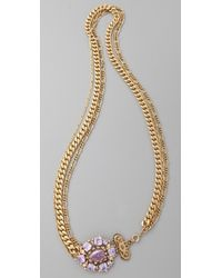 Juicy Couture - Gemstone Necklace - Lyst