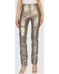 Malandrino Leather Pants - Lyst