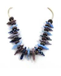 Sari Glassman Purple Summer Necklace - Lampwork - Lyst