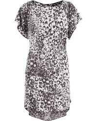 Sea Silk Broken Chain Print Layer Dress - Lyst