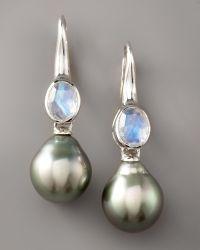 Assael - Moonstone & Pearl Earrings - Lyst