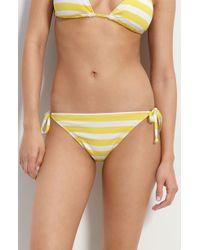 Becca New Stripe Side Tie Bikini Bottoms (nordstrom Exclusive) - Lyst