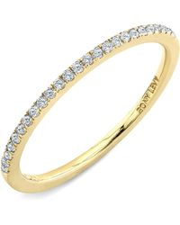 Bony Levy Stackable Diamond Band Ring yellow - Lyst