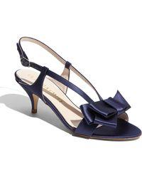 Claudia Ciuti Dore Satin Evening Sandal - Lyst