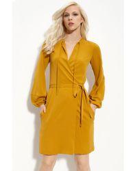 Diane von Furstenberg Nove Stretch Silk Wrap Dress - Lyst