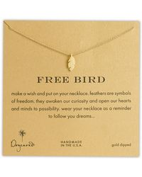 Dogeared 'Reminder - Free Bird' Feather Necklace - Lyst