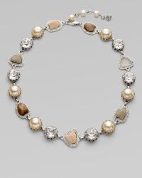 Isaac Mizrahi Crystal, Glass & Resin Stone Neckalce - Lyst