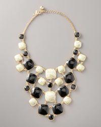 Kate Spade Cobblestone Bib Necklace - Lyst