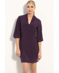 Komarov V-neck Jersey Shift Dress - Lyst