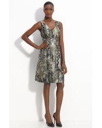 Lela Rose V-neck Dress - Lyst
