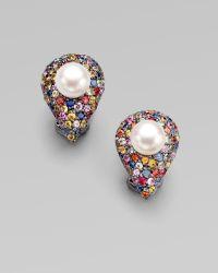 M.c.l  Matthew Campbell Laurenza - Cultured Pearl, Sapphire & Sterling Silver Teardrop Earrings - Lyst