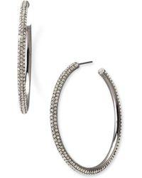 Nadri Large Pavé Crystal Hoop Earrings - Lyst