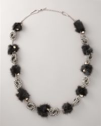 Ranjana Khan - Mink Pom-pom Necklace - Lyst
