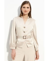 St. John Evening Satin Jacket - Lyst