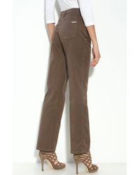 St. John Yellow Label Straight Leg Stretch Jeans brown - Lyst