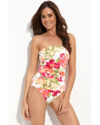 Tommy Bahama Bandeau Swimsuit - Lyst