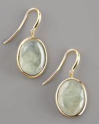 Yvel - Green Sapphire Drop Earrings - Lyst