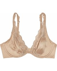 Donna Karan Intimates Luxe Jersey and Lace Plunge Bra - Lyst