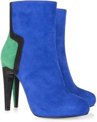 Pierre Hardy Color-block Suede Ankle Boots - Lyst