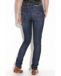 Vigoss Brooklyn Skinny Stretch Denim Jeans (dark Wash) (juniors) - Lyst
