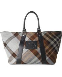 Vivienne Westwood Tartan Shopper Bedrock Brown - Lyst