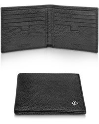 A.Testoni   Coffee Brown Caribou Leather Billfold Wallet   Lyst