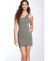 BCBGMAXAZRIA One Shoulder Seamed Ponte Knit Dress - Lyst