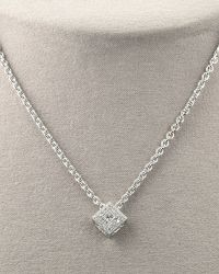 Charriol - Square Diamond Necklace - Lyst