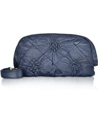 Coccinelle Cecile - Pleated Calf Leather Large Clutch - Lyst